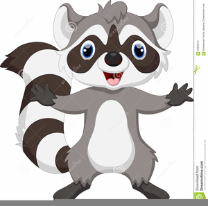 Raccoon free images at. Racoon clipart animated