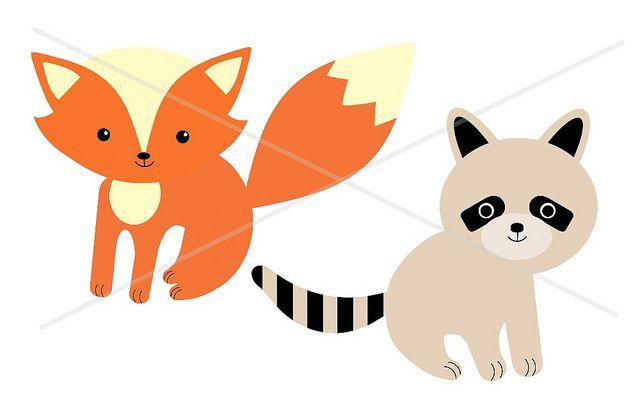 Racoon clipart baby fox. And raccoon clip art