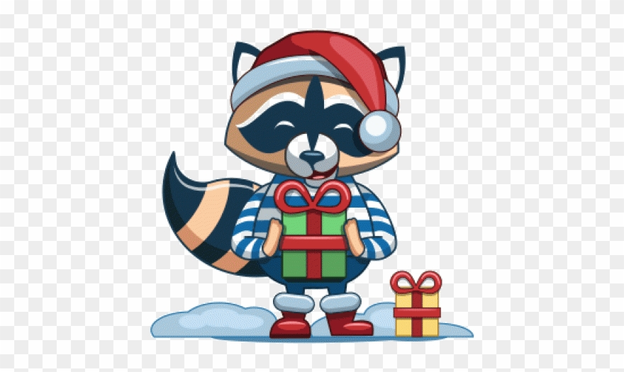 Racoon clipart christmas. Raccoon png