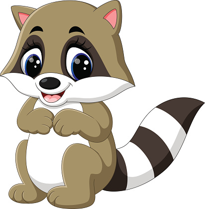 Racoon clipart clip art. Baby raccoon library clipartpost