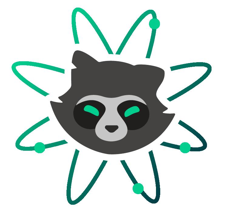 Racoon clipart gray. Atomic raccoon