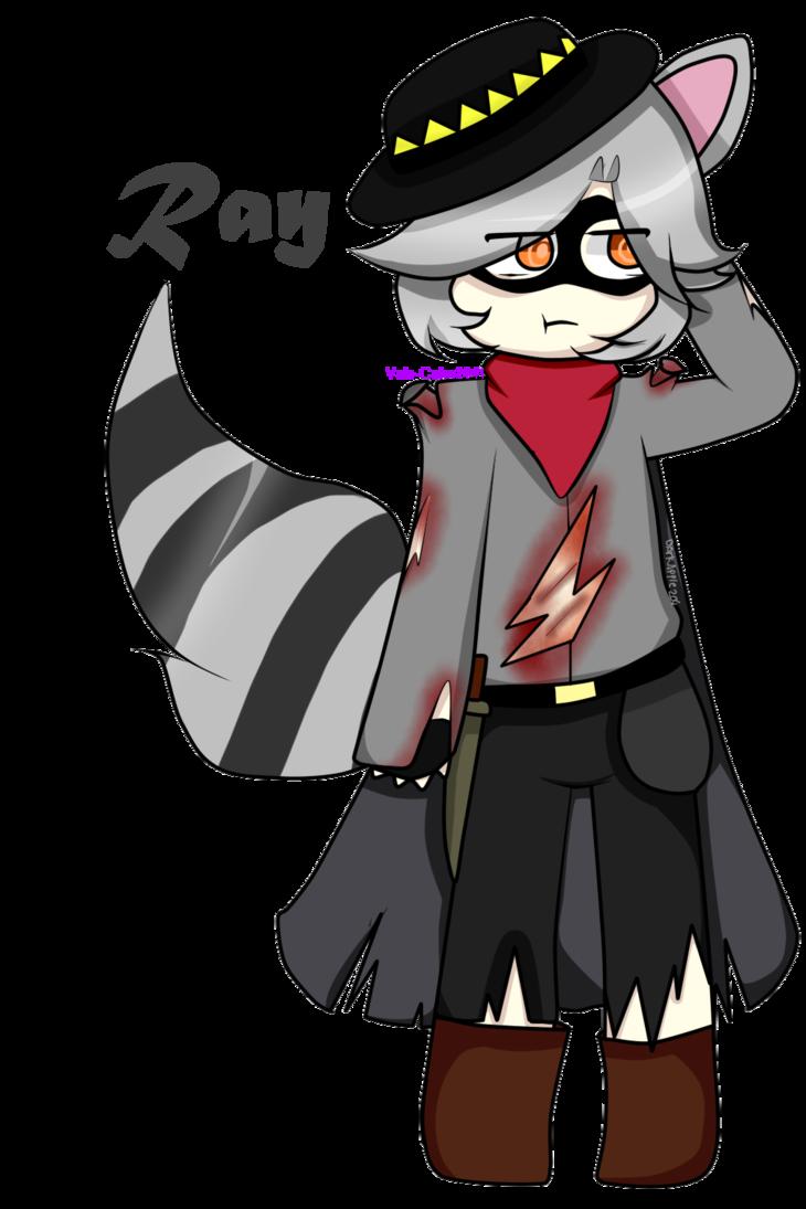 Ray the raccoon tnar. Racoon clipart gray