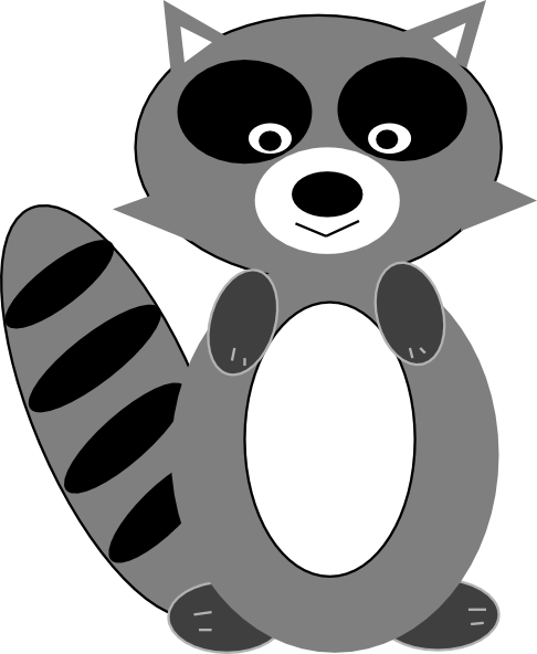 Racoon clipart gray. Pin on notice and