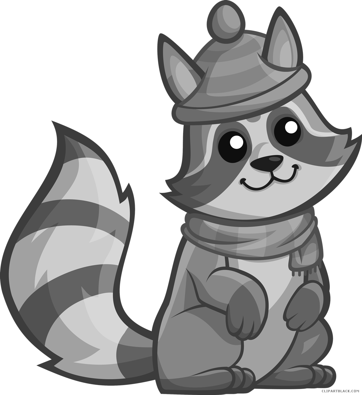 Raccoon page of clipartblack. Racoon clipart gray