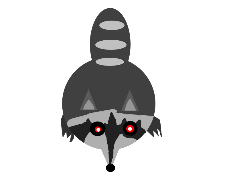 Image png mope io. Racoon clipart gray