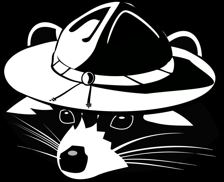 Onlinelabels clip art raccoon. Racoon clipart hat