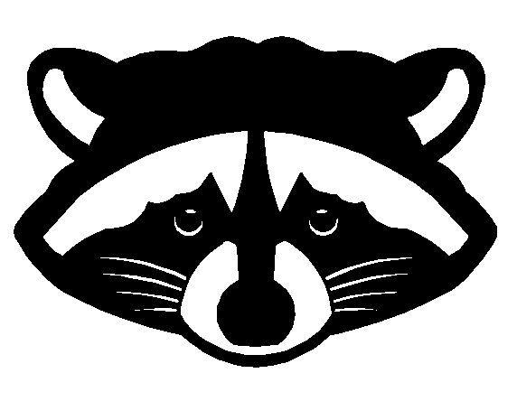 Silhouette raccoon google search. Racoon clipart head