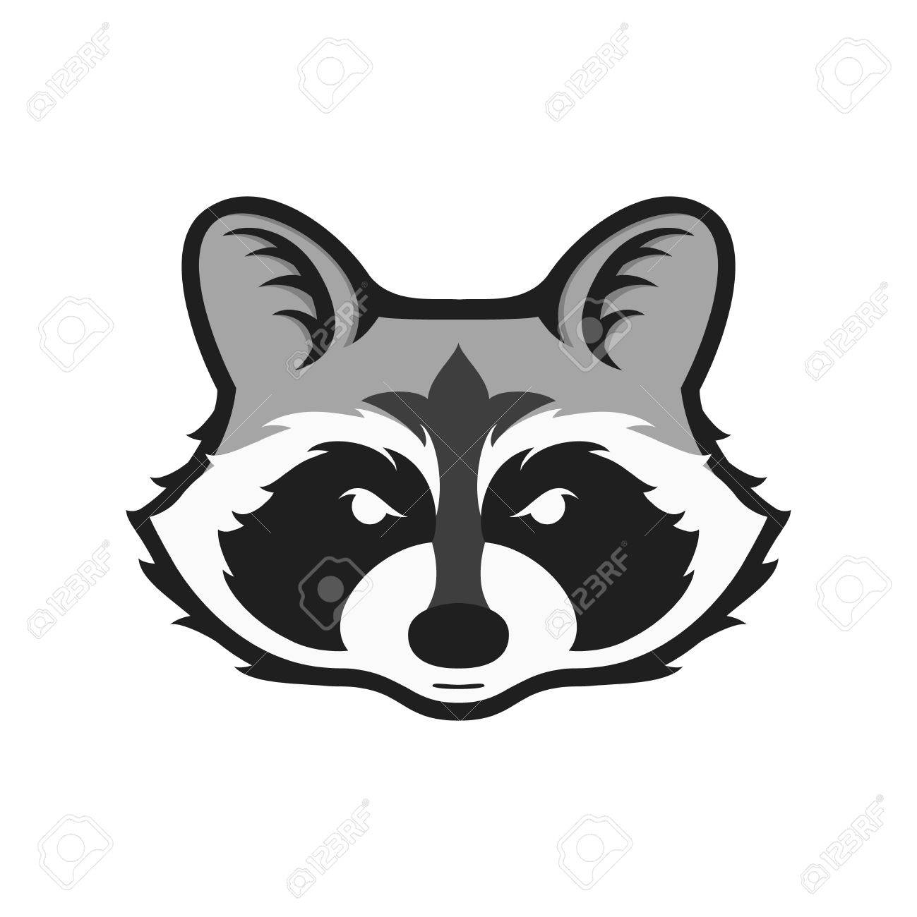 Racoon clipart head. Free drawn download clip