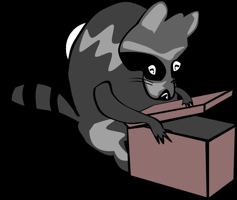 Free cartoon raccoon images. Racoon clipart mammal