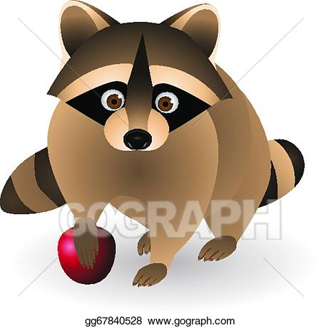 Vector illustration eps gg. Racoon clipart nocturnal animal