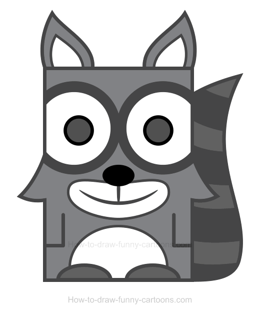 Racoon clipart simple. Raccoon