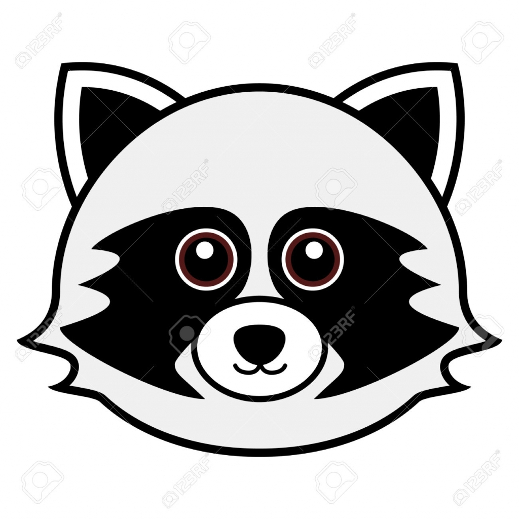 Racoon clipart simple. Raccoon drawing free download