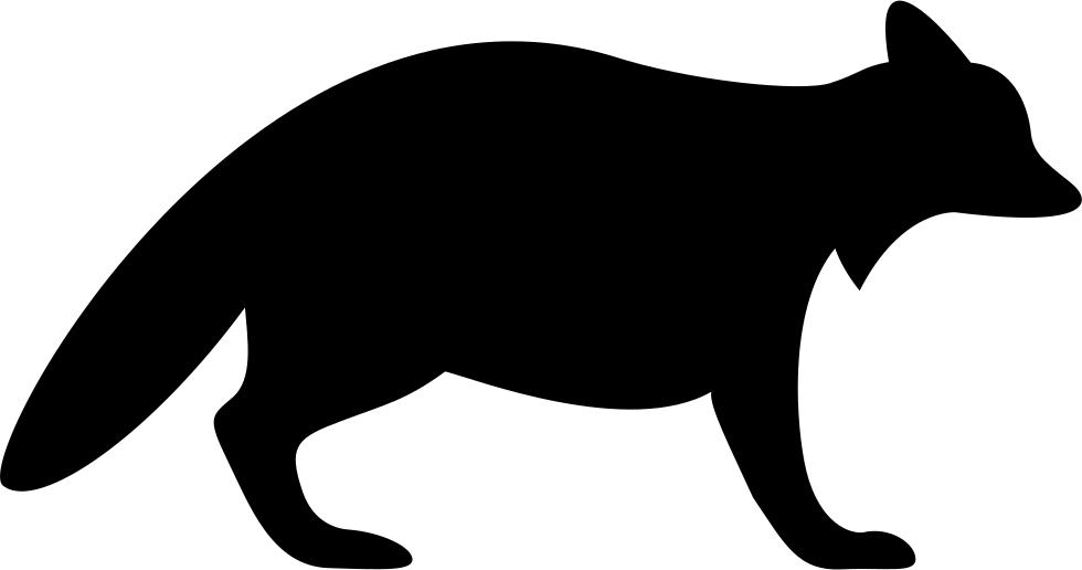 Racoon clipart skunk. Raccoon silhouette clip art