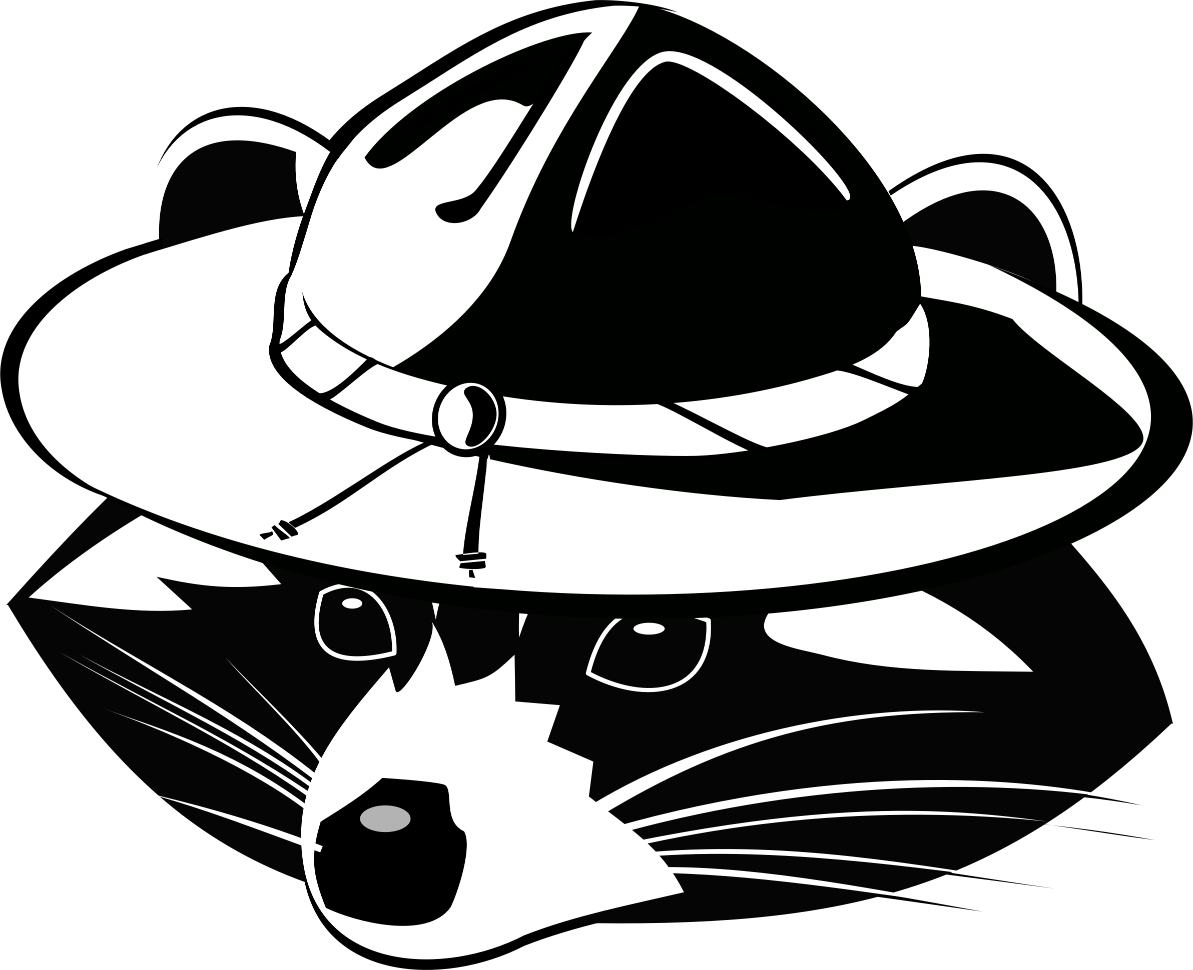 Racoon clipart svg. Raccoon scout big image