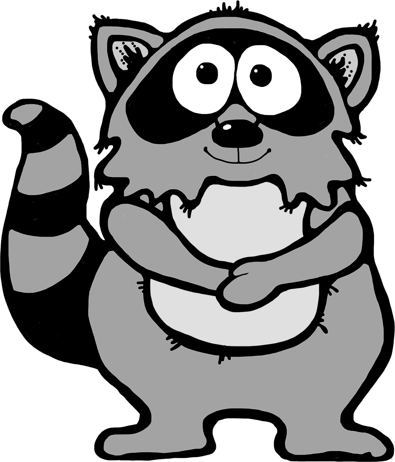 Racoon clipart transparent. Raccoon page of clipartblack