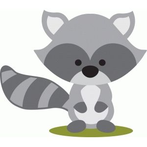 Woodland clipart raccoon. Silhouette design store fall