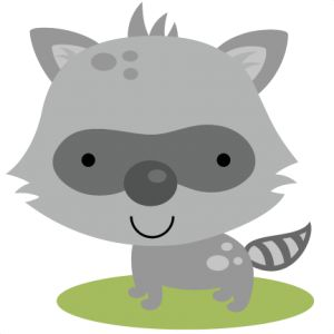 Racoon clipart woodland creature. Free baby raccoon cliparts