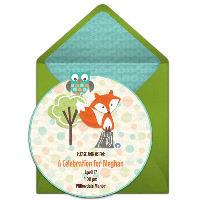 Free friends invitations pinterest. Racoon clipart woodland owl