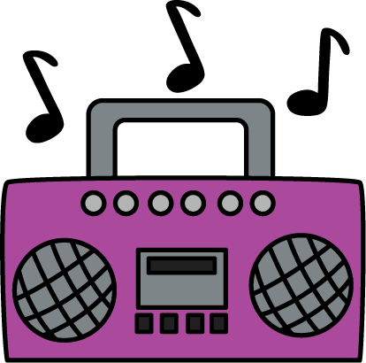 Clip art free images. Boombox clipart radio music