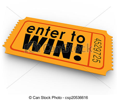 Enter to win ticket. Raffle clipart