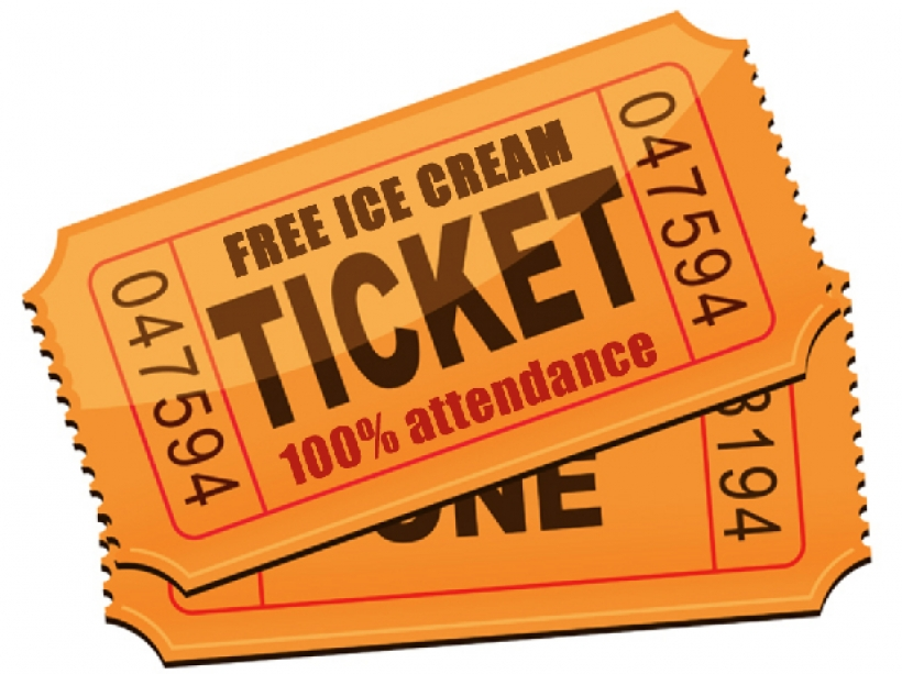 Ticket pictures of clip. Raffle clipart attendance