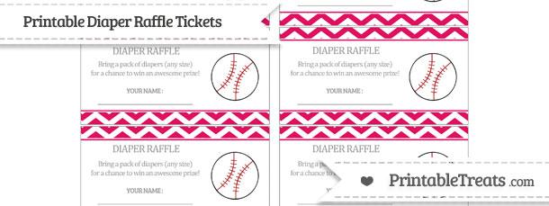Free ruby pink chevron. Raffle clipart baseball ticket