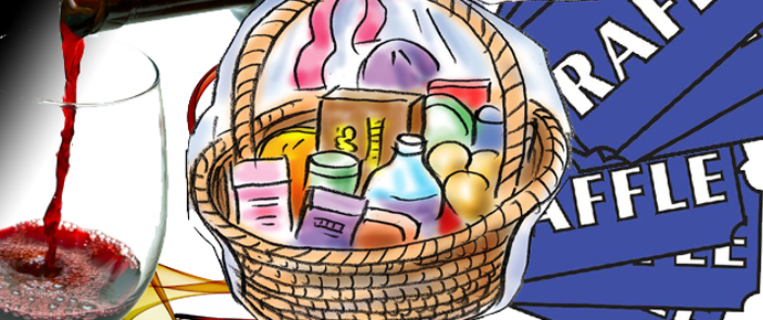 Raffle clipart basket goods.  nd annual stanley