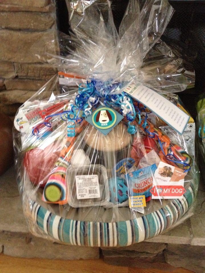 Raffle clipart basket goods. Dog theme for auction