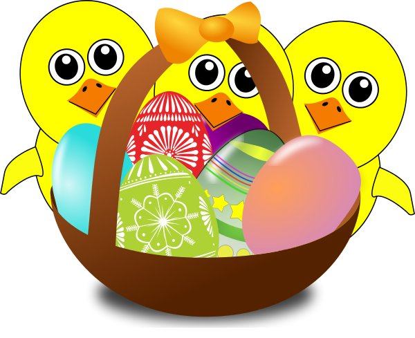 Easter clip art arts. Raffle clipart basket goods
