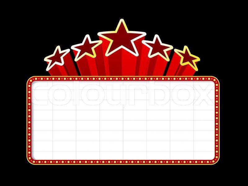 x theatre frame. Raffle clipart broadway star