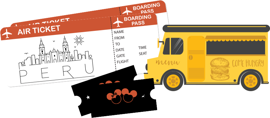 The amazing chase race. Raffle clipart bus ticket