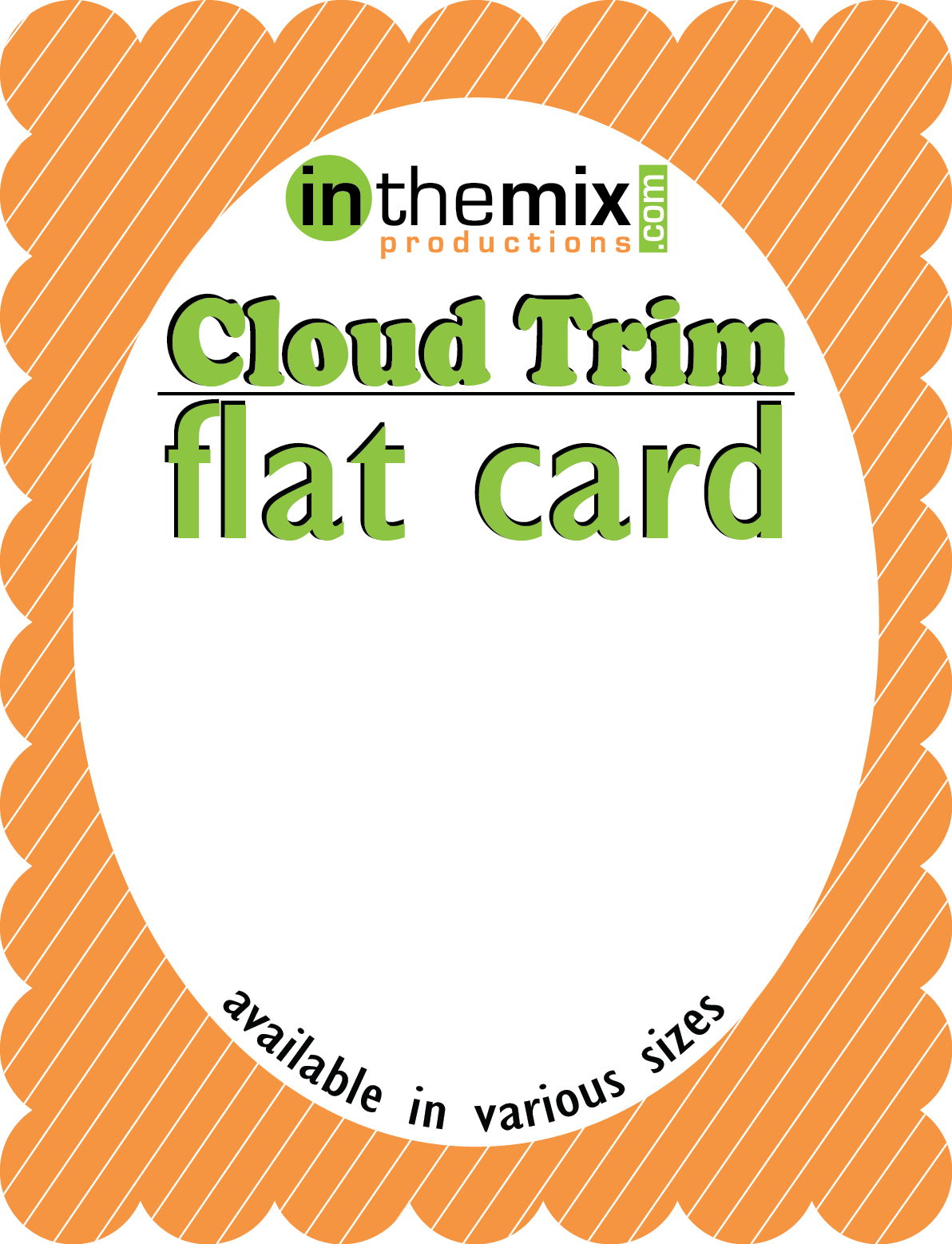 Cloud trim flat greeting. Raffle clipart business card
