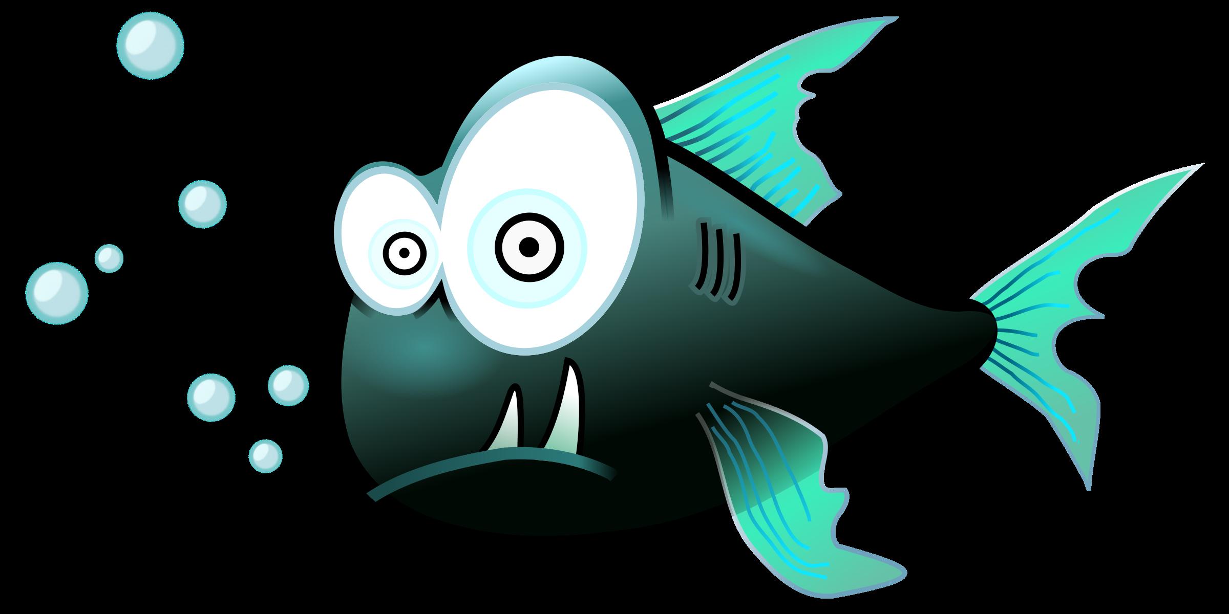 Raffle clipart cartoon. Piranha hungry many interesting
