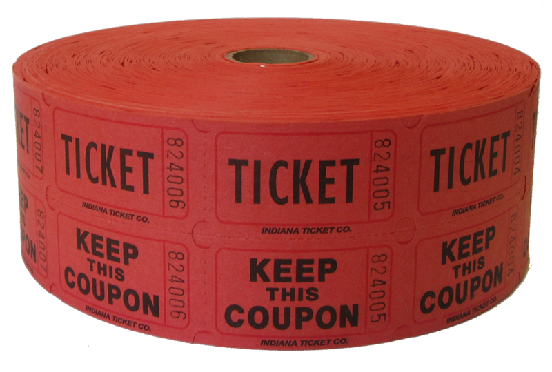 Buy raffle ticket rolls. Tickets clipart admission