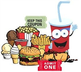 Stand supplies disposable bags. Raffle clipart concession