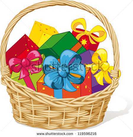 Raffle clipart goodie basket.  gift clipartlook