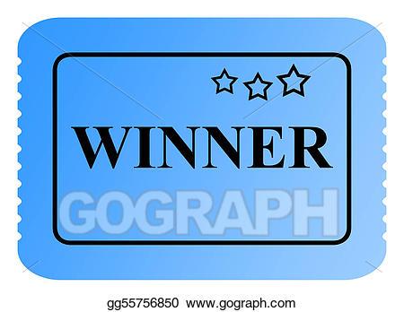 Stock illustrations winning . Raffle clipart lottery ticket