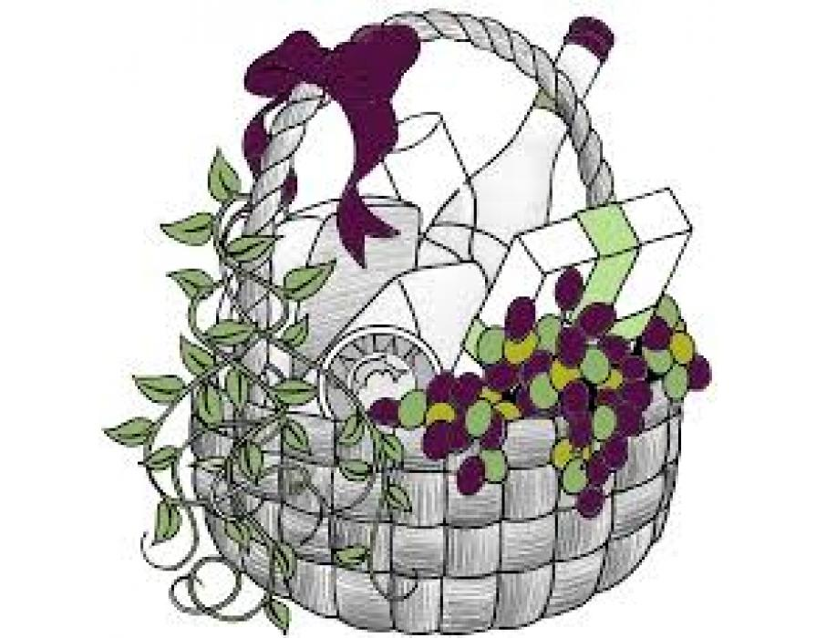 Gift for earth month. Raffle clipart makeup basket