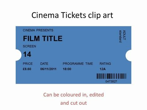 More cinema things i. Raffle clipart movie ticket