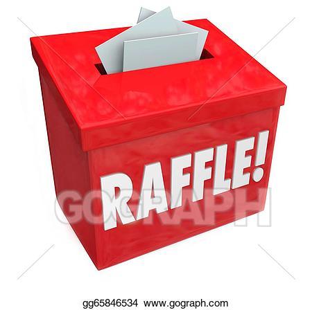 Stock illustration enter to. Raffle clipart raffle box