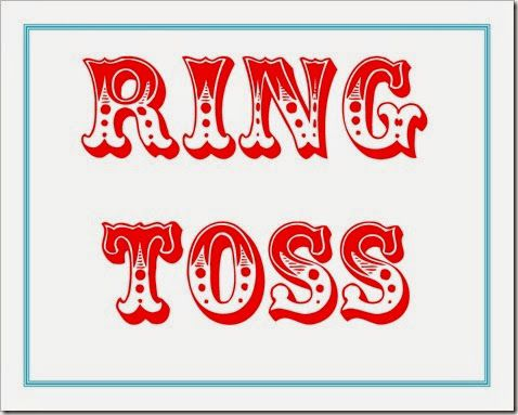 Raffle clipart ring toss. Printable free carnival party