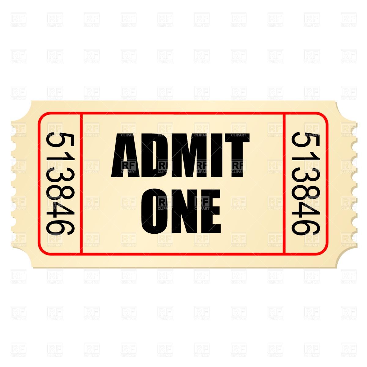 stub vector free. Raffle clipart theater ticket