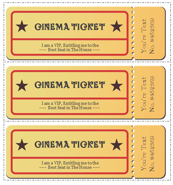 Templates download professional movie. Ticket clipart word