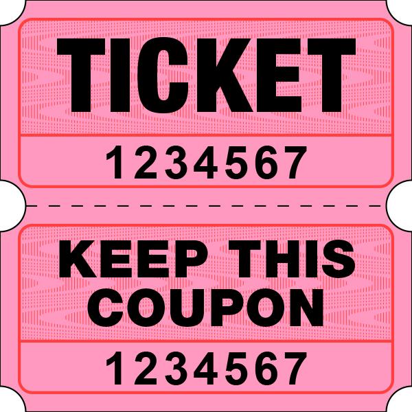 Pink tickets globe . Raffle clipart yellow ticket