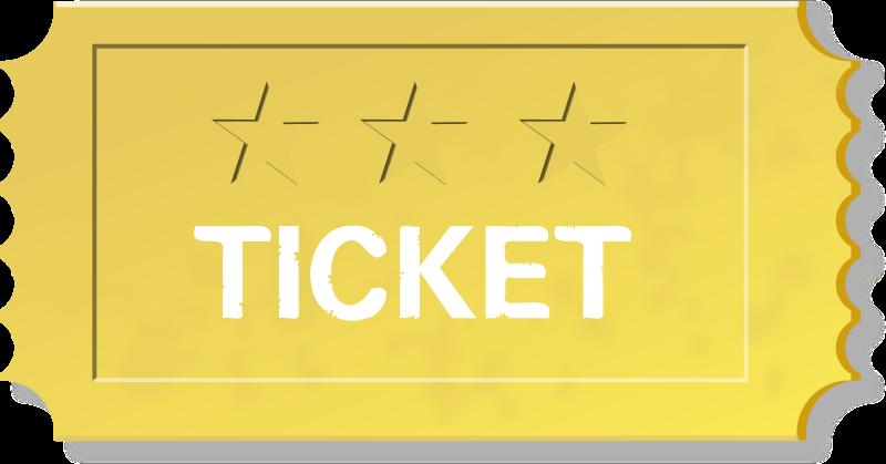 Medium image png . Raffle clipart yellow ticket