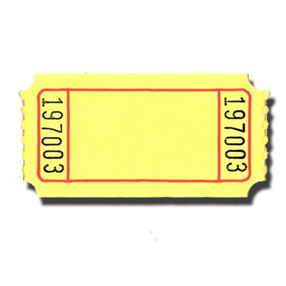 Raffle clipart yellow ticket. Blank clip art n