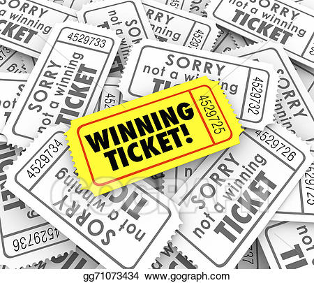 Raffle clipart you can win. Stock illustration winning ticket