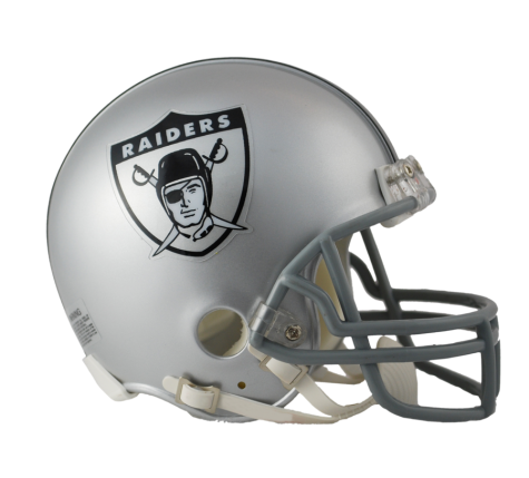 Oakland vsr mini throwback. Raiders helmet png