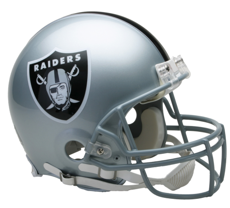 Oakland vsr authentic . Raiders helmet png