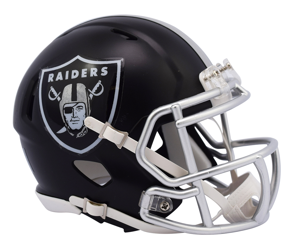Raiders helmet png. Oakland riddell speed mini